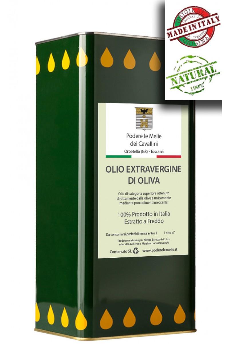 Olio Extravergine di Oliva - Latta 5 Litri